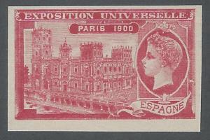 France, Paris 1900 Exposition, Spain Pavilion, Red, Imperf., V.F.