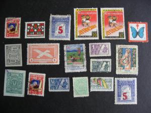 COLOMBIA 18 labels etc, duplicates, mixed condition, check them out!