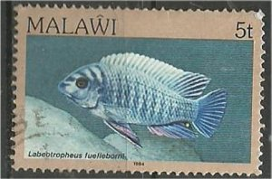 MALAWI 1984 used 5  Aquarium  Scott 429