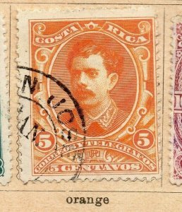 Costa Rica 1899 Early Issue Fine Used 5c. NW-09189