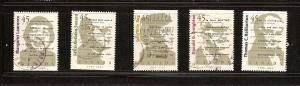 CANADIAN SET  ON CANADIANS AUTHORS USED STAMPS  LOT#98