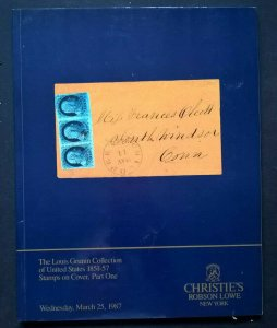 Auction Catalogue LOUIS GRUNIN United States 1851-57 STAMPS ON COVER