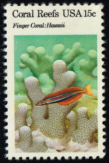 US #1830 Finger Coral; Sabertooth Blenny; MNH (0.30)