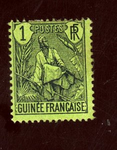 FRENCH GUINEA #30 MINT FINE OG HR Cat $37