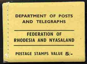 Booklet - Rhodesia & Nyasaland 1955 5s booklet (yello...
