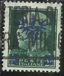 OCCUPAZIONE ITALIANA ITALY OVERPRINTED SOPRASTAMPATO ITALIA 1944 LUBIANA TEDE...