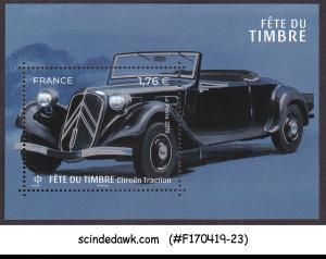FRANCE - 2019 STAMP DAY / CITROEN TRACTION CAR MIN/SHT MNH