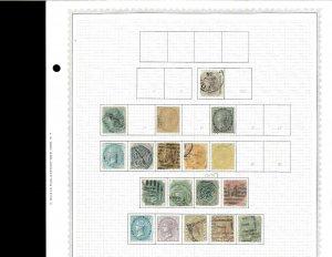 India 1860-1936 Used (9 mint) Hinged on Minkus Blank Pages