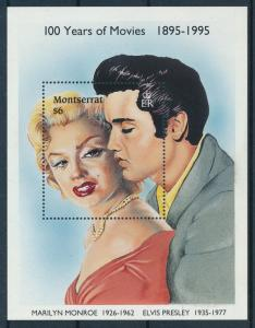 [95052] Montserrat 1995 Music Elvis Presley Cinema Marilyn Monroe Sheet MNH