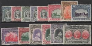 PAKISTAN-BAHAWALPUR SG19/32 1948 DEFINITIVE SET MTD MINT