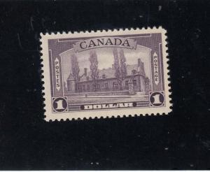 CANADA # 245 VF-MNH $1 1938 CHATEAU DE RAMEZAY, MTL /DULL VIOLET CAT VALUE $180