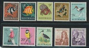 Australia 1966 New Currency Definitive set Sc# 394-417 mint