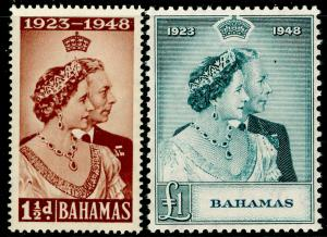 BAHAMAS SG194-195, COMPLETE SET, NH MINT. Cat £45. RSW.
