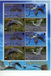 2010 Montserrat WWF - Reddish Egret SS8 (Scott 1253a)