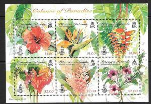 PITCAIRN ISLANDS 2018 COLOURS OF PARADISE M/S MNH