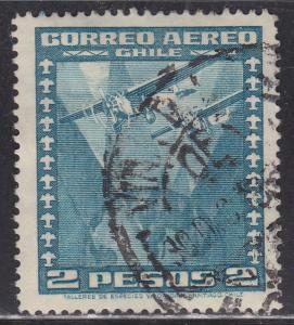 Chile C40 Two Airplanes Over Globe 1934