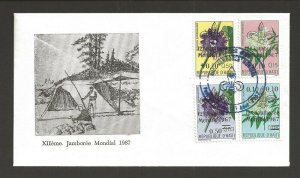 1967 Haiti Scouts World Jamboree ovpt flowers FDC