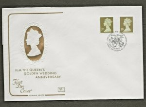 21/4/1997 26p + 1ST NVI GOLD MACHINDEFINITIVES RARE PICTORIAL POSTMARK FDC