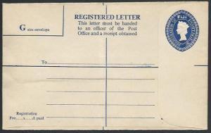 FIJI QE 3d registered envelope fine unused.................................25748