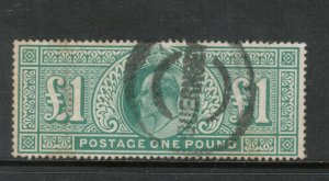 Great Britian #142 Very Fine Used With Guernsey Cancel