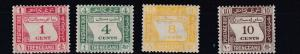 TRENGGANU  1937  S G D1 - D4   POSTAGE DUE SET OF 4  MH  LIGHT TONING CAT £170