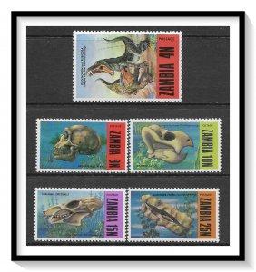 Zambia #94-98 Fossils Set MNH