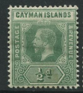 Cayman Islands - Scott 33 - KGV Definitive Issue -1912 - MH - Single 1/2d Stamp