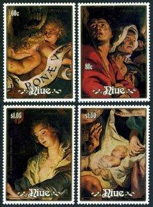 Niue 564-567,568 sheet,MNH.Michel 737-740,Bl.113. Christmas 1988.Peter Rubens.