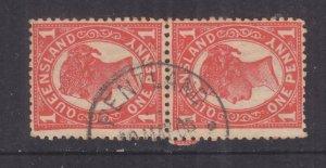 QUEENSLAND, PENTLAND cds., 1905 1d. pair.
