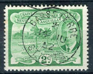 ST.KITTS; 1952 early GVI issue fine used 2d. value fine Postmark