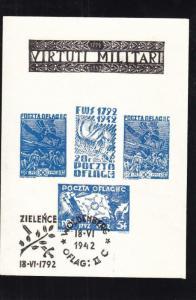 WW2: Polish POW Stamps, Woldenberg, Fisher Cat. # Block 1 (27598)