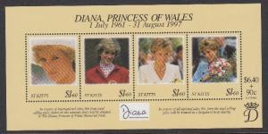 St Kitts 438 Princess Diana mnh