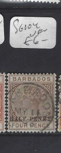 BARBADOS  (P1810B)   QV  1/2D/4D      SG 104   VFU