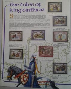 St. Vincent - King Arthur stamp Lot collection - (1565)