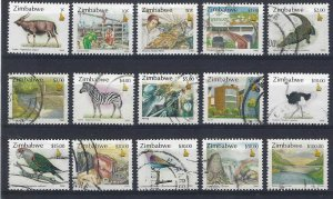 pb3376 Zimbabwe 836-37, 839, 842-53 used, cv 10.95 bin $4.00