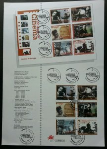 Portugal 100 Anniversary Of Cinema 1996 Movie Actor (stamp on info sheet)