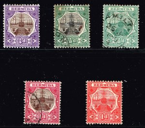 UK STAMP BERMUDA USED STAMPS  COLLECTION LOT #M2