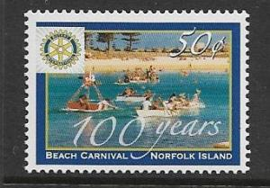 NORFOLK ISLANDS 836 MNH ROTARY INTERNATIONAL ISSUE