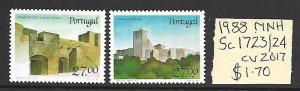 Portugal MNH 1723-4 Castles 1988