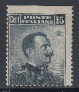 ITALY - Simi 15 cent. Sassone n.4a UNPERFORATED AT TOP cv 300$ MH*