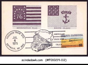 UNITED STATES USA 1975 AMERICAN FREEDOM TRAIN SPECIAL CARD WITH SPECIAL CANCL.