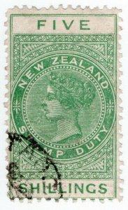 (I.B) New Zealand Revenue : Stamp Duty 5/-
