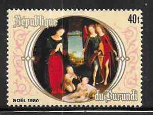 Burundi #581   40fr  Christmas  (MNH) CV $6.50