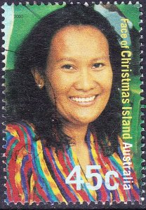 CHRISTMAS ISLAND 2000 QEII 45c Multicoloured Faces of Christmas Island Siti S...