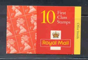 Great Britain Sc BK1139A 1997 MH289a Machin stamp booklet  mint NH