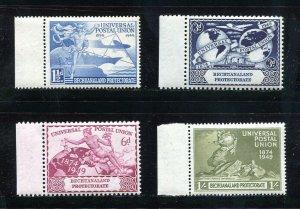 x525 - BECHUANALAND - 1949 UPU Set - Mint MNH. Left Sheet Margin Stamps