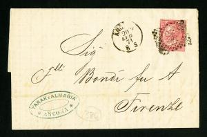 Italy 1871 Stamped Cover XF Condition