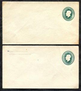 p434 - EN28 & EN28c French Return Notice. Lot of (2) Postal Stationery Covers