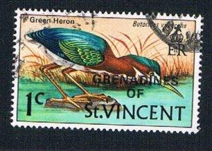 St Vincent Grenadines 3 Used Green Heron overprint (BP2108)