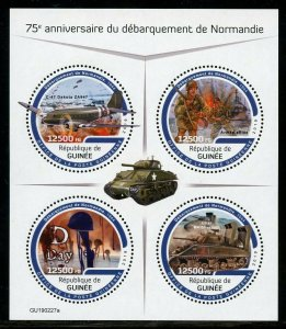 GUINEA 2019 75th ANNIVERSARY OF THE NORMANDY LANDING  SHEET MINT NH